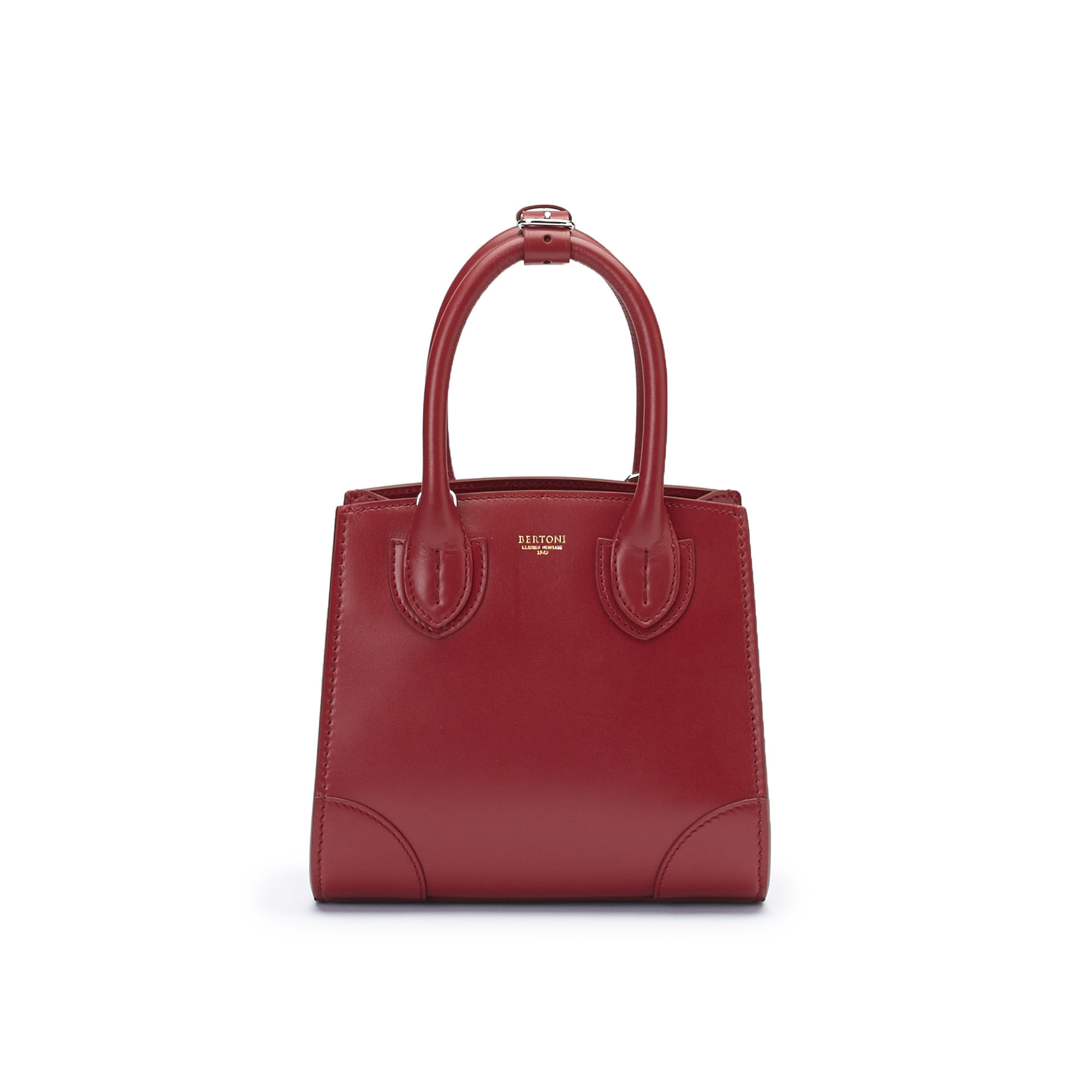 The red french calf Darcy bag by Bertoni 1949 01