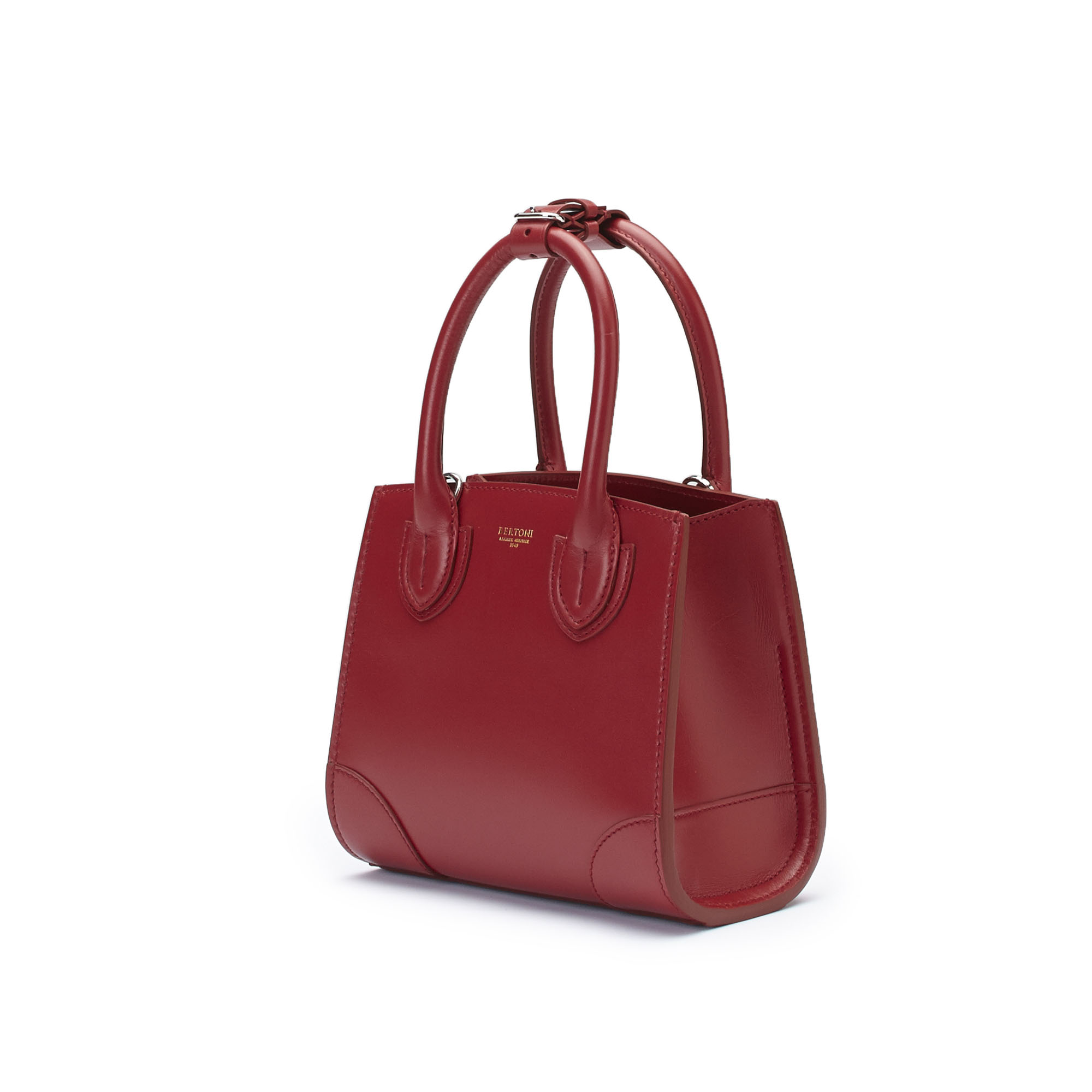 The red french calf Darcy bag by Bertoni 1949 03