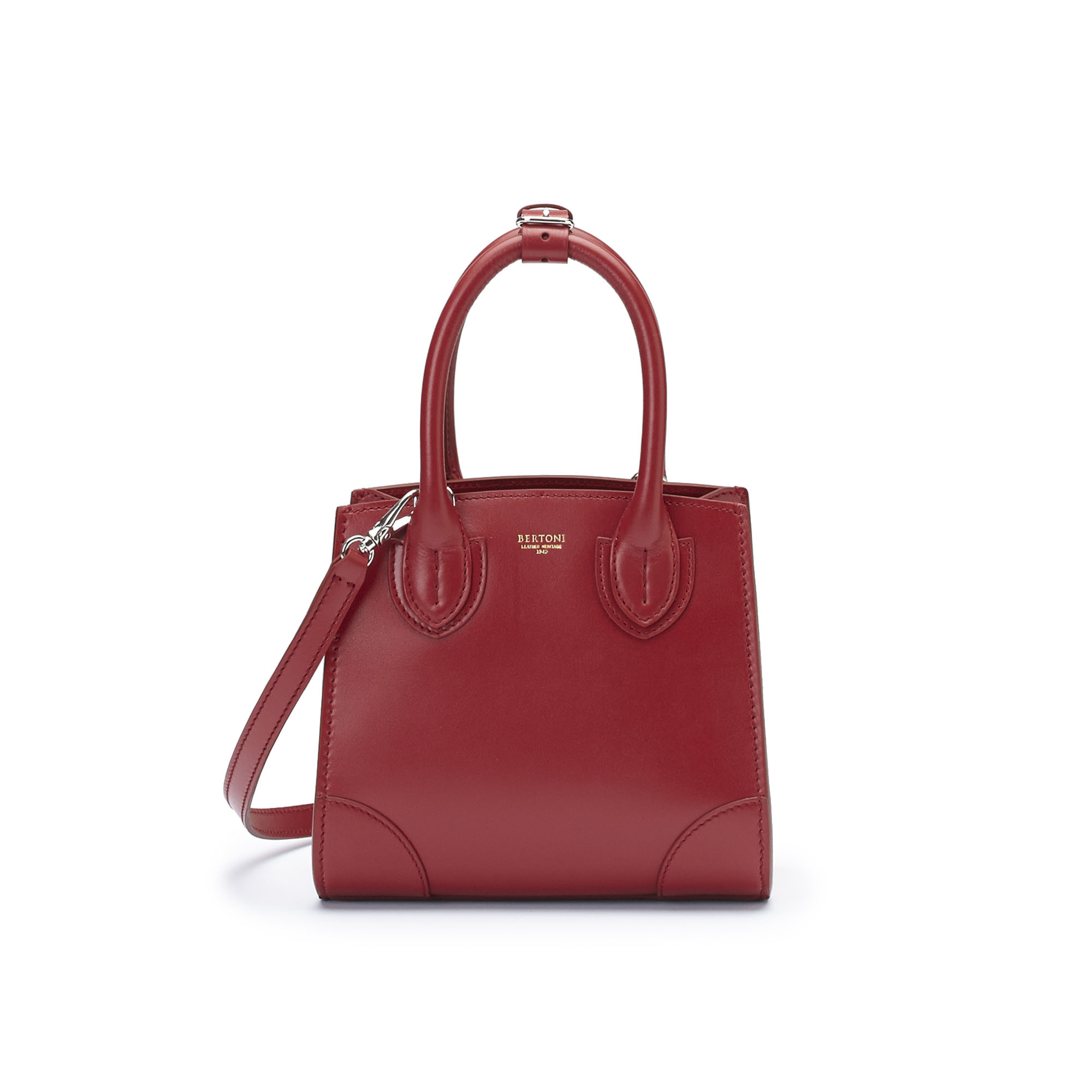 The red french calf Darcy bag by Bertoni 1949 02