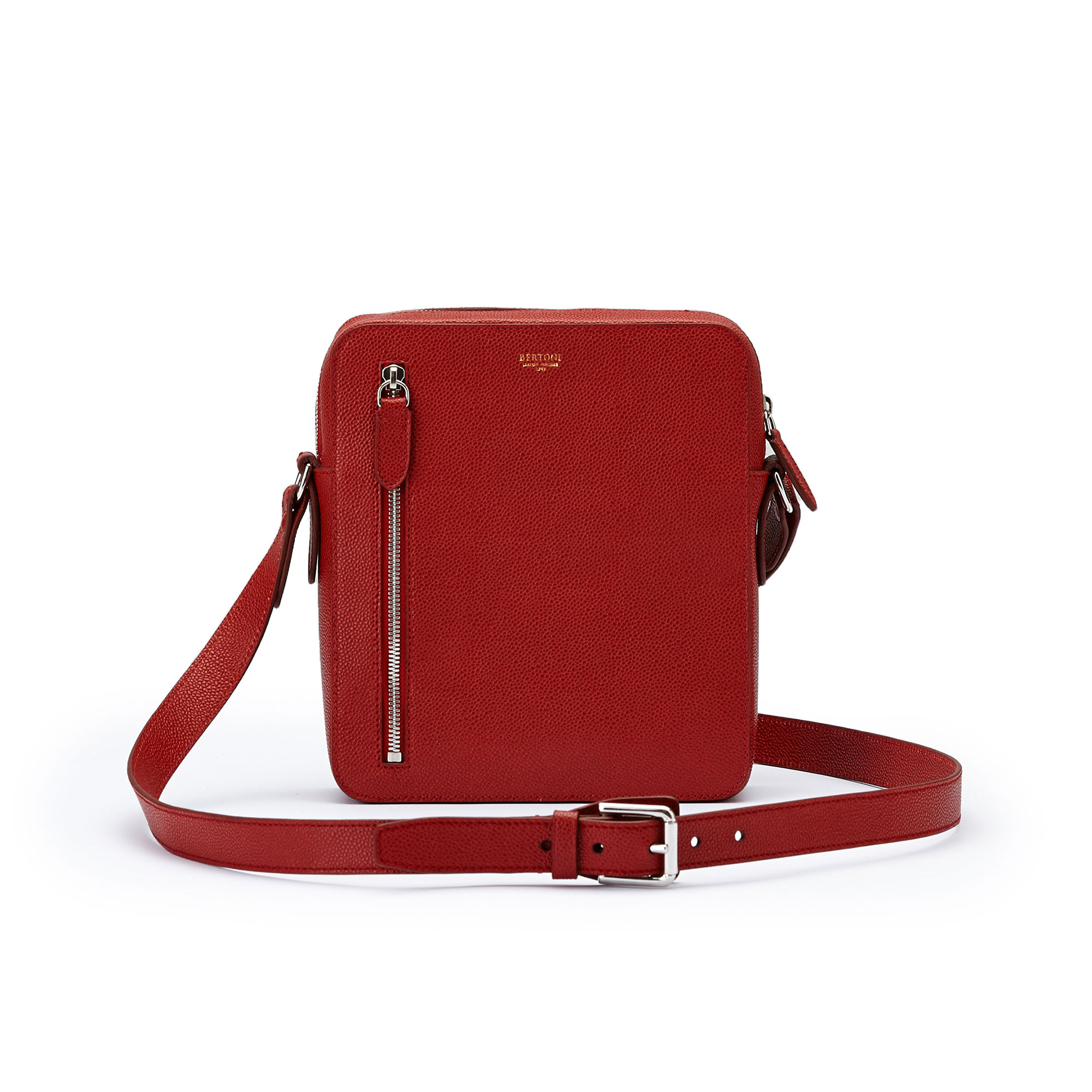 The red grain calf Man Bag by Bertoni 1949 01