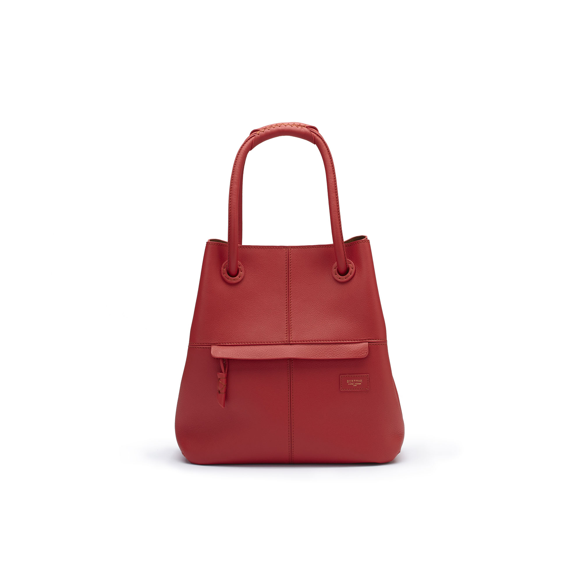 The red soft calf Satchel bag by Bertoni 1949 01