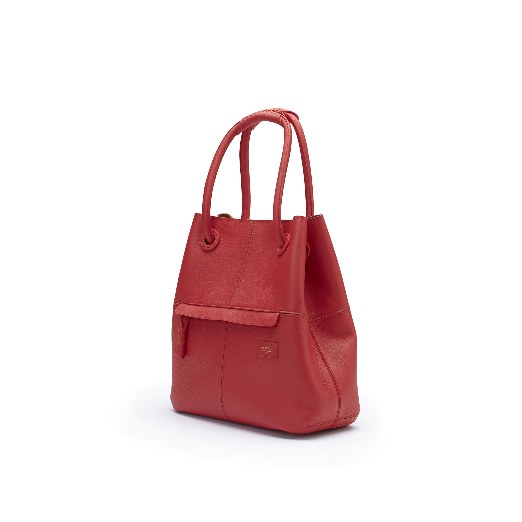 The red soft calf Satchel bag by Bertoni 1949 02