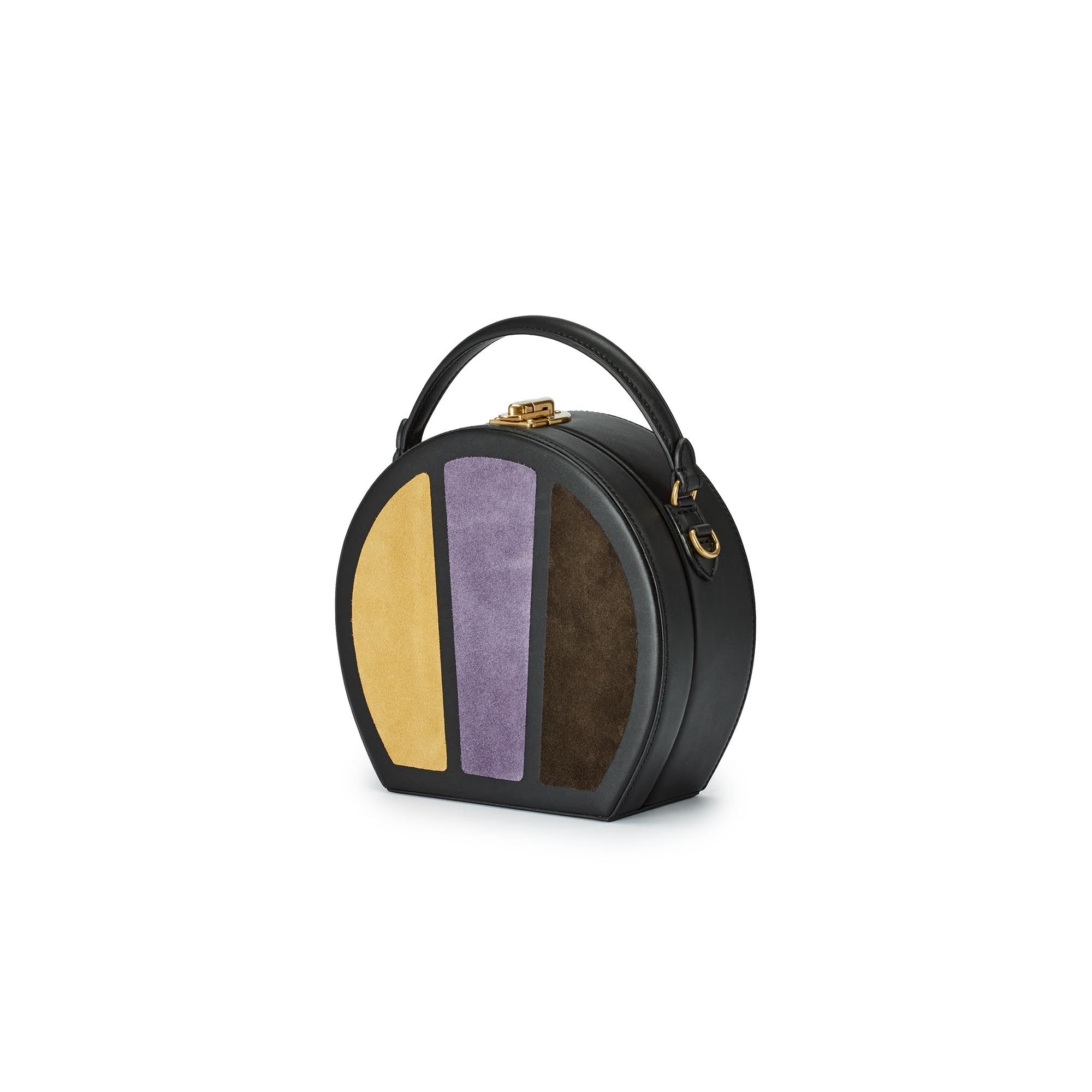 Regular-Bertoncina-yellow-purple-brown-suede-bag-Bertoni-1949