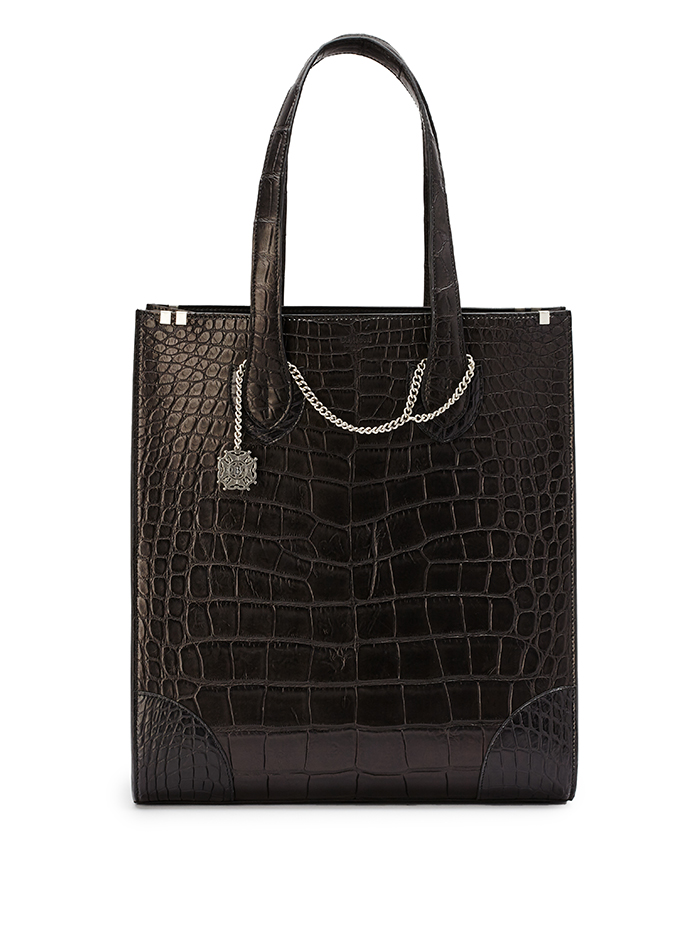 Signatura-Tote-black-alligator-bag-Bertoni-1949-thumb