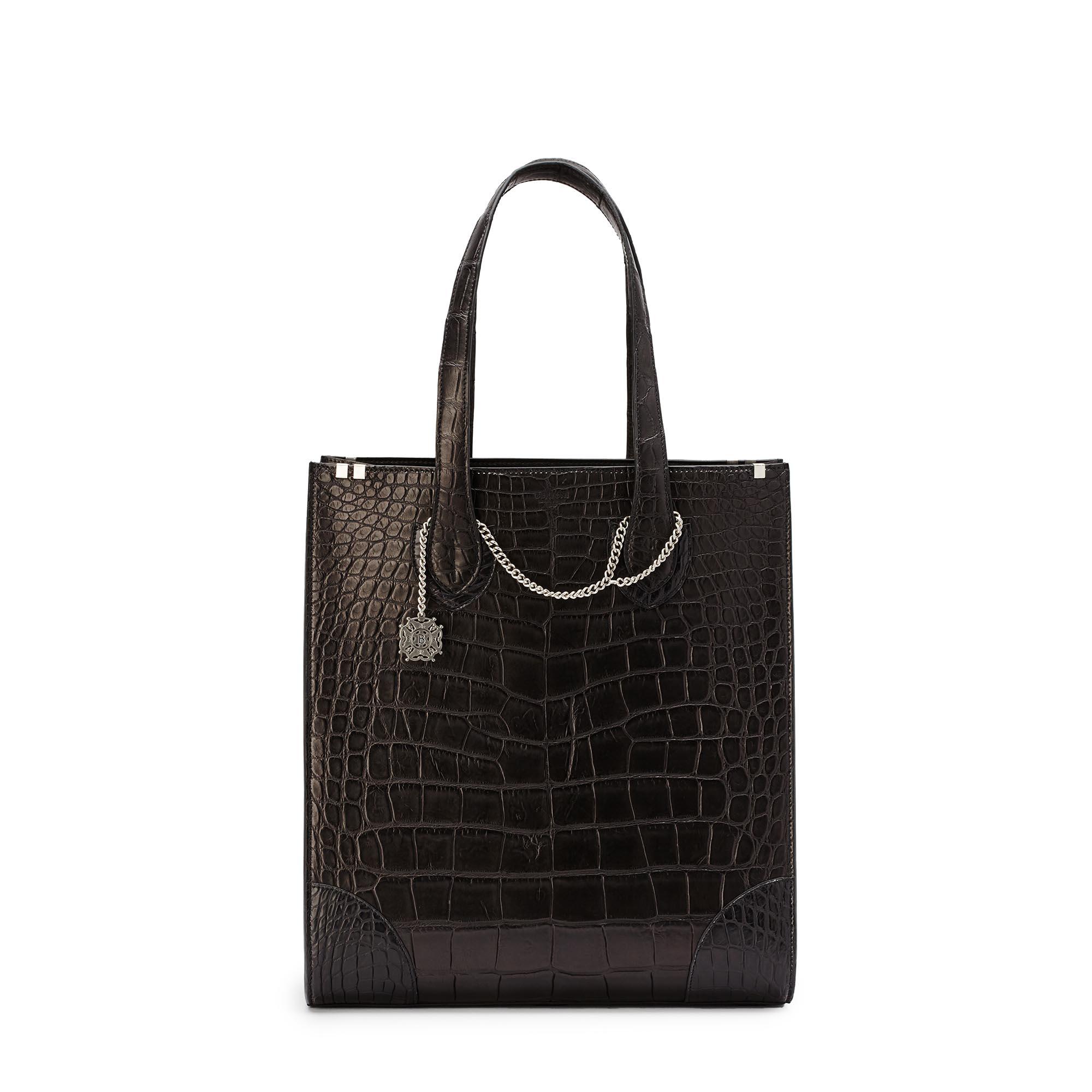 Signatura-Tote-black-alligator-bag-Bertoni-1949