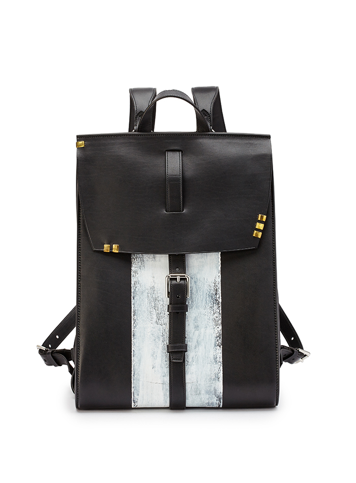 Signature-Backpack-black-ivory-rock-calf-bag-Bertoni-1949-thumb