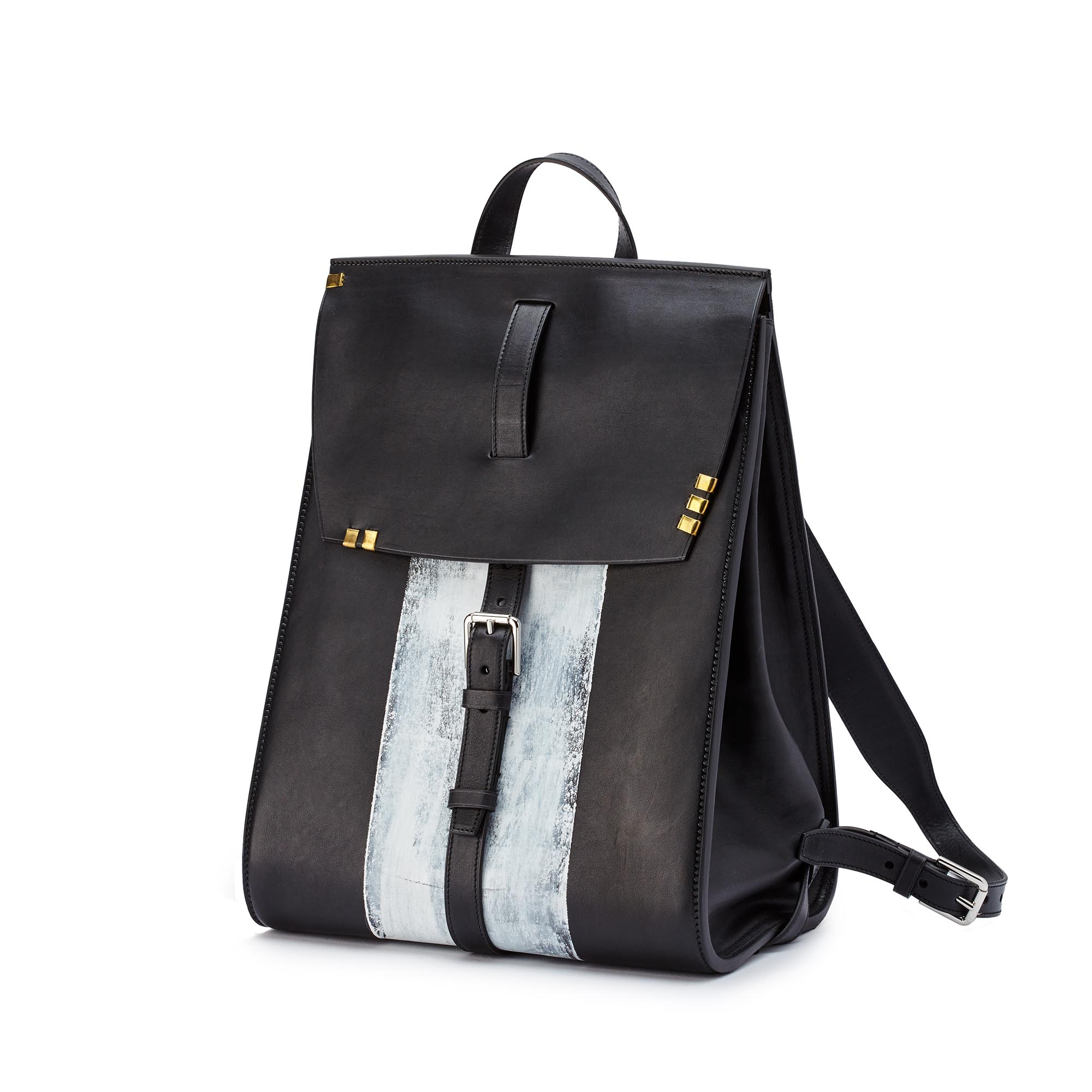 Signature-Backpack-black-ivory-rock-calf-bag-Bertoni-1949_01