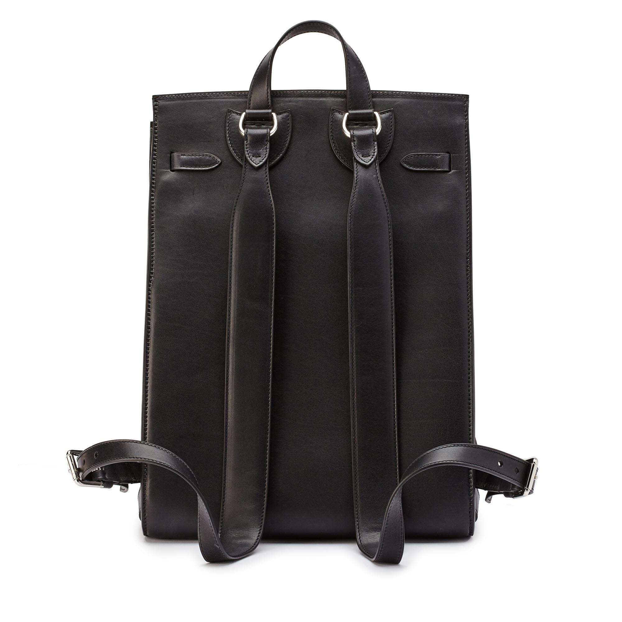 Signature-Backpack-black-ivory-rock-calf-bag-Bertoni-1949_02