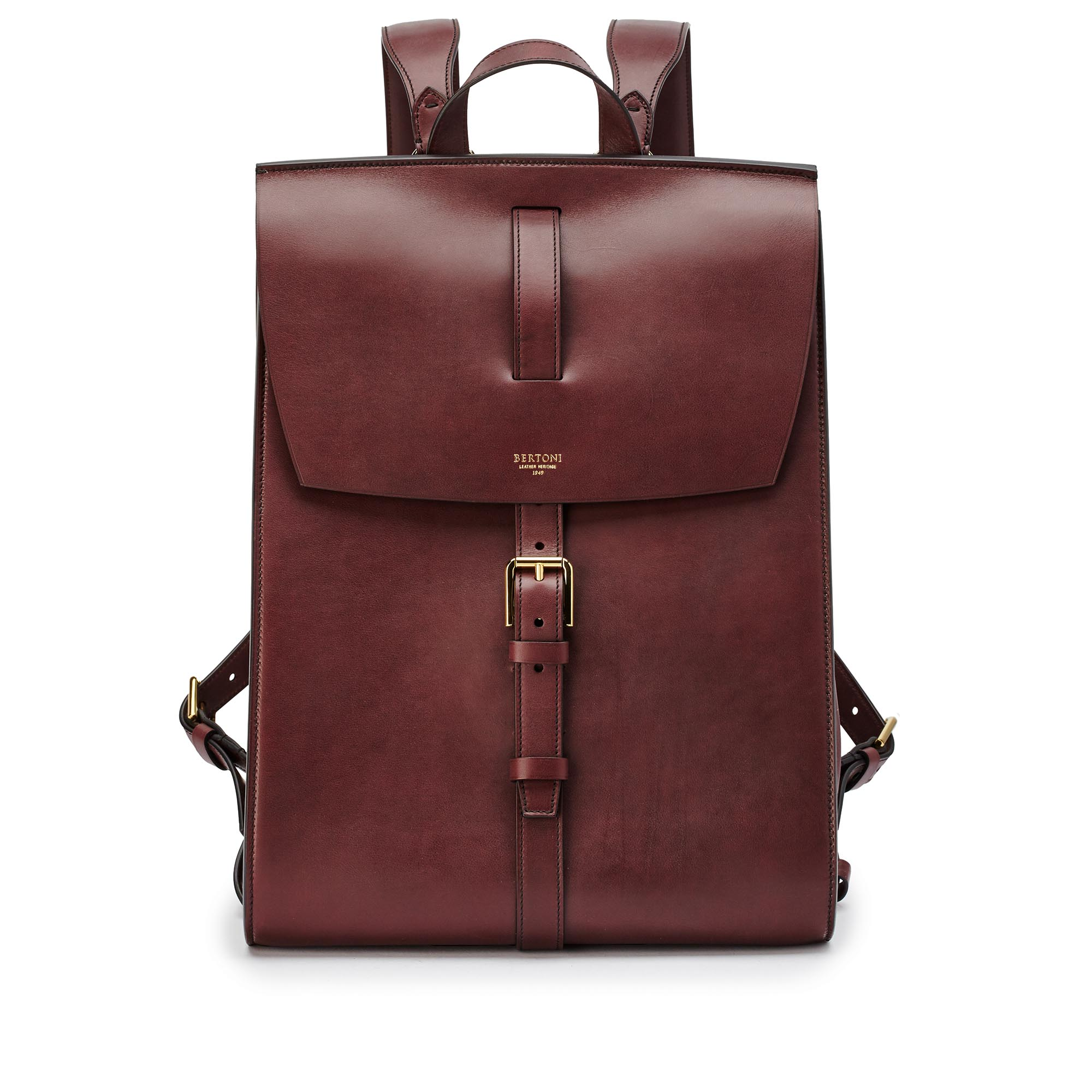 Signature-Backpack-bordeaux-french-calf-bag-Bertoni-1949