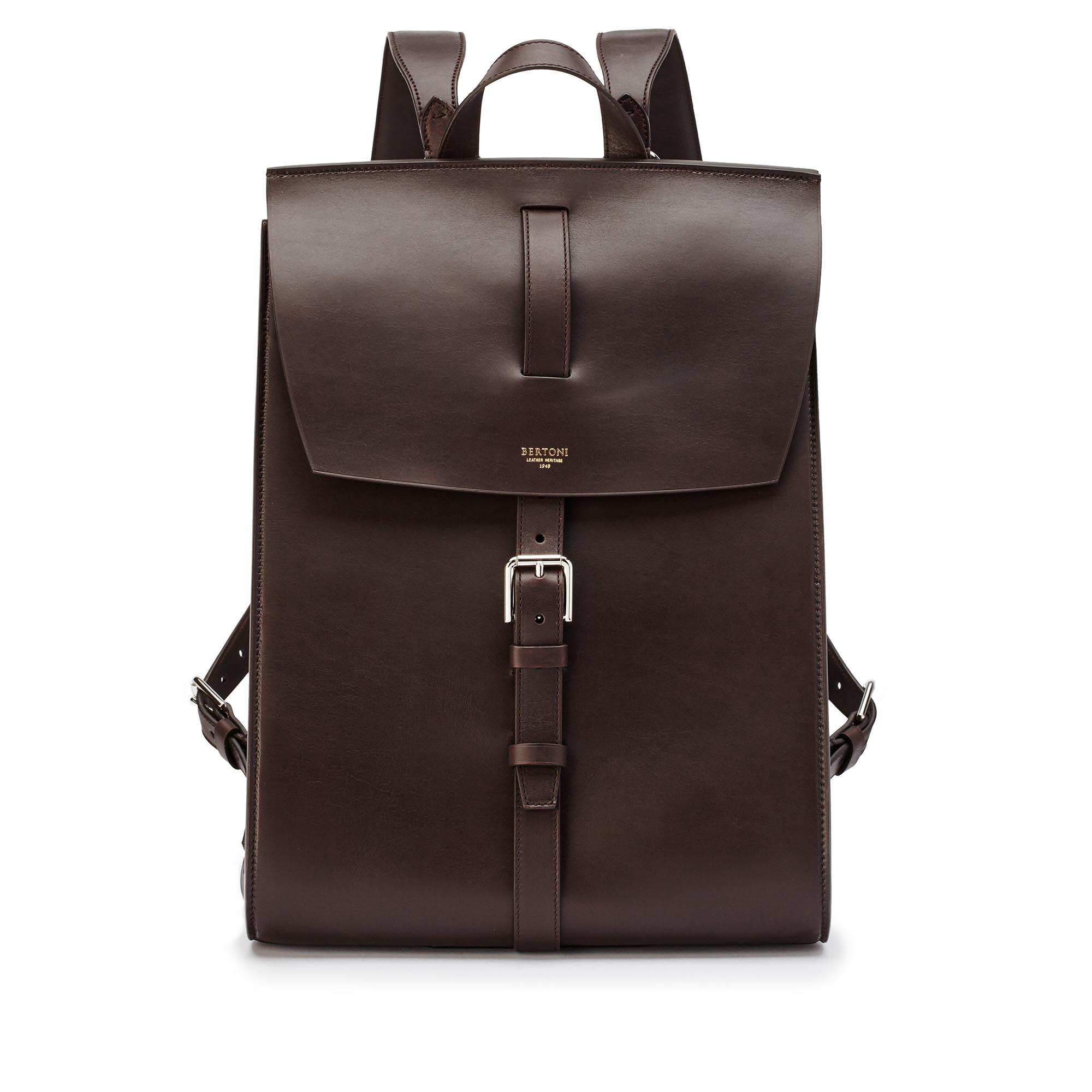 Signature-Backpack-dark-brown-french-calf-bag-Bertoni-1949