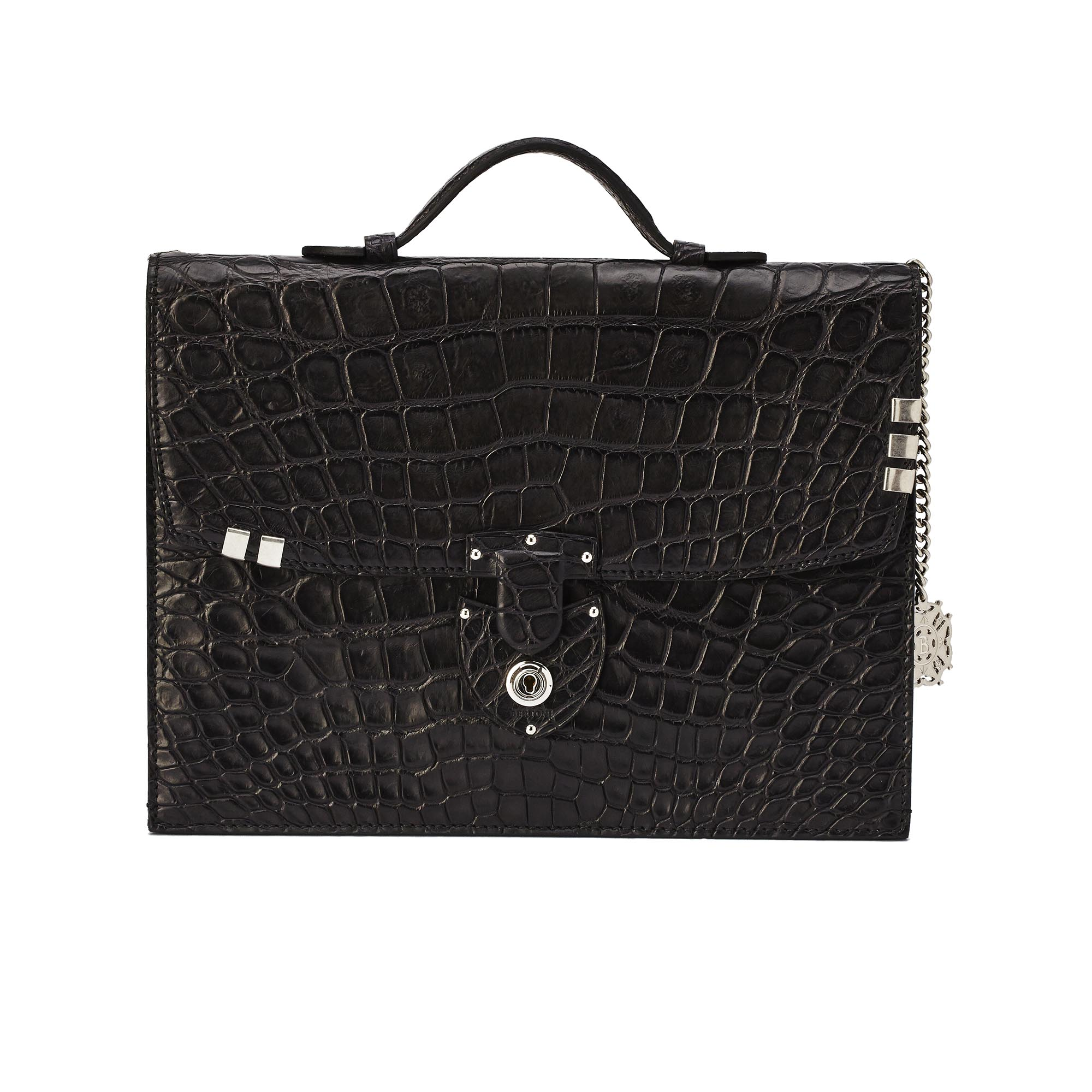 Signature-Bike-black-alligator-bag-Bertoni-1949