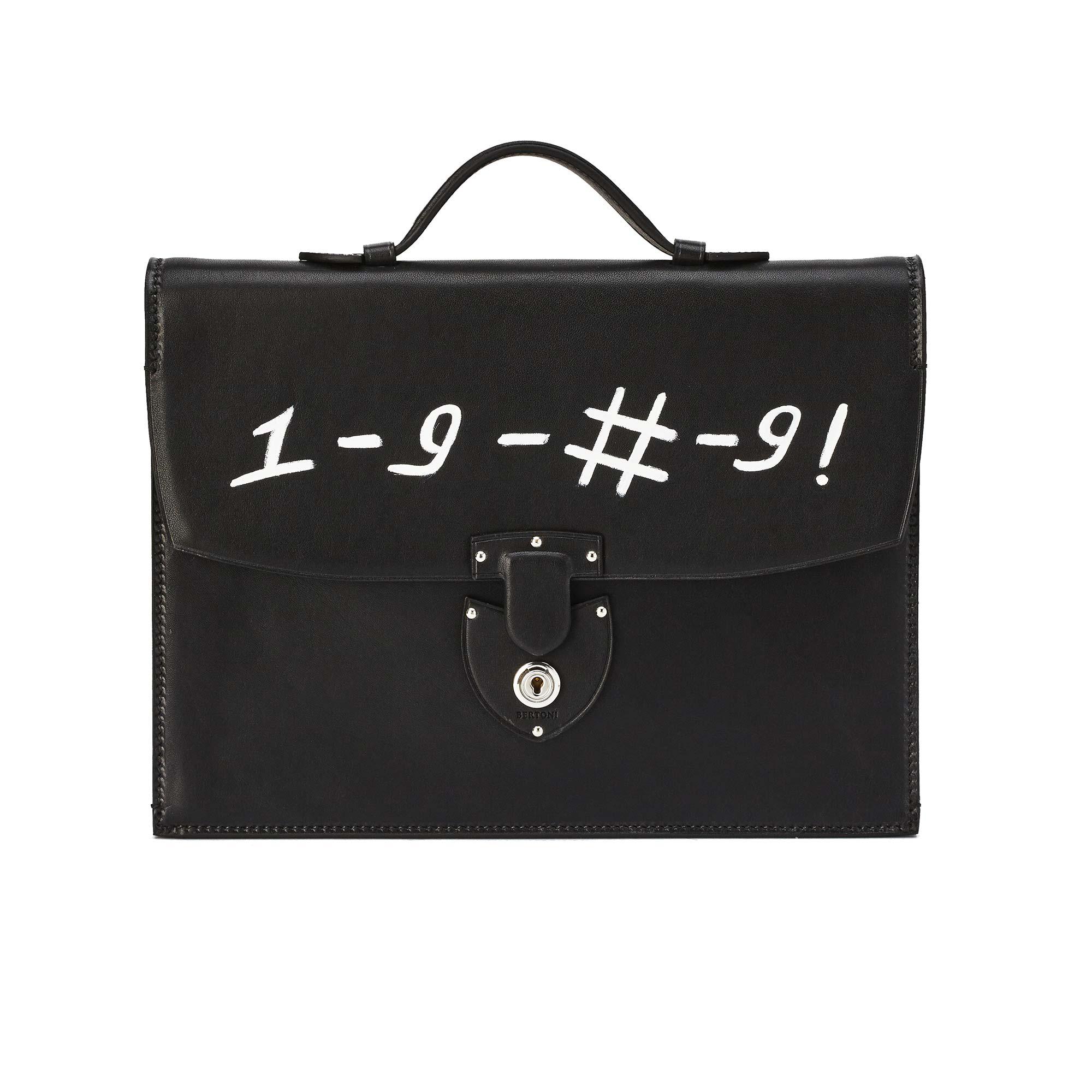 Signature-Biker-black-rock-calf-bag-Bertoni-1949