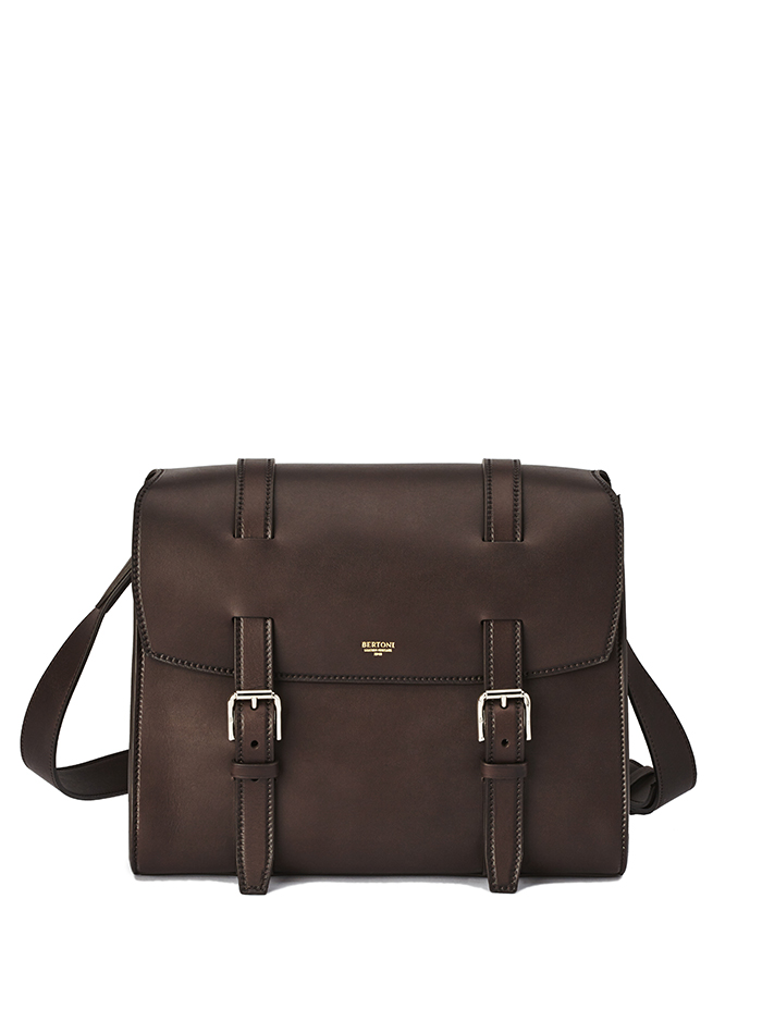 Signature-Messenger-dark-brown-french-calf-bag-Bertoni-1949-thumb