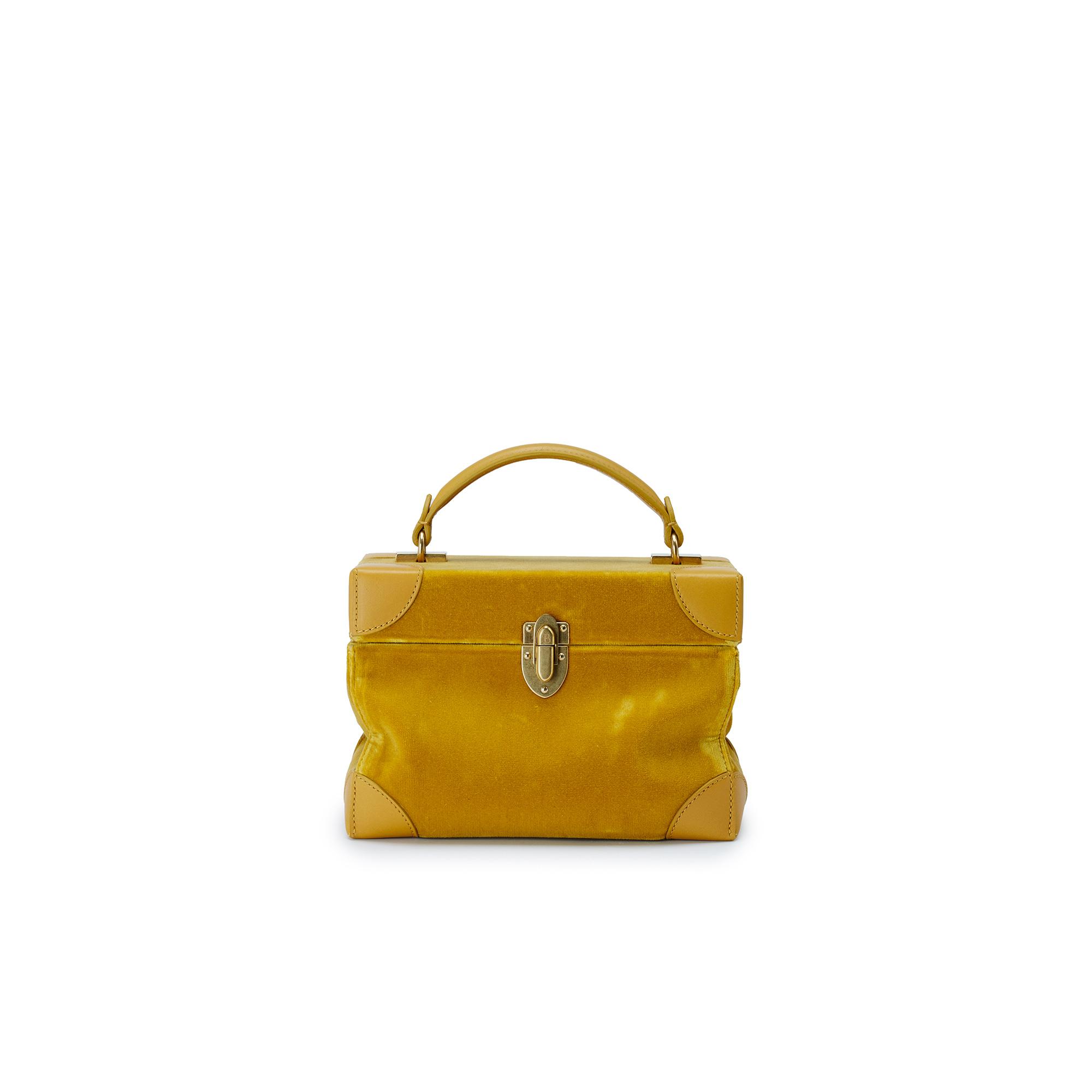 Soft-Bertoncina-mustard-velvet-bag-Bertoni-1949