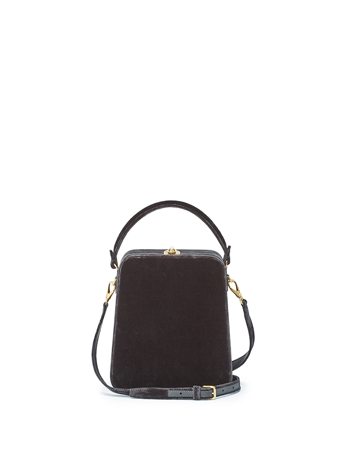 Tall-Bertoncina-charcoal-gray-velvet-bag-Bertoni-1949-thumb