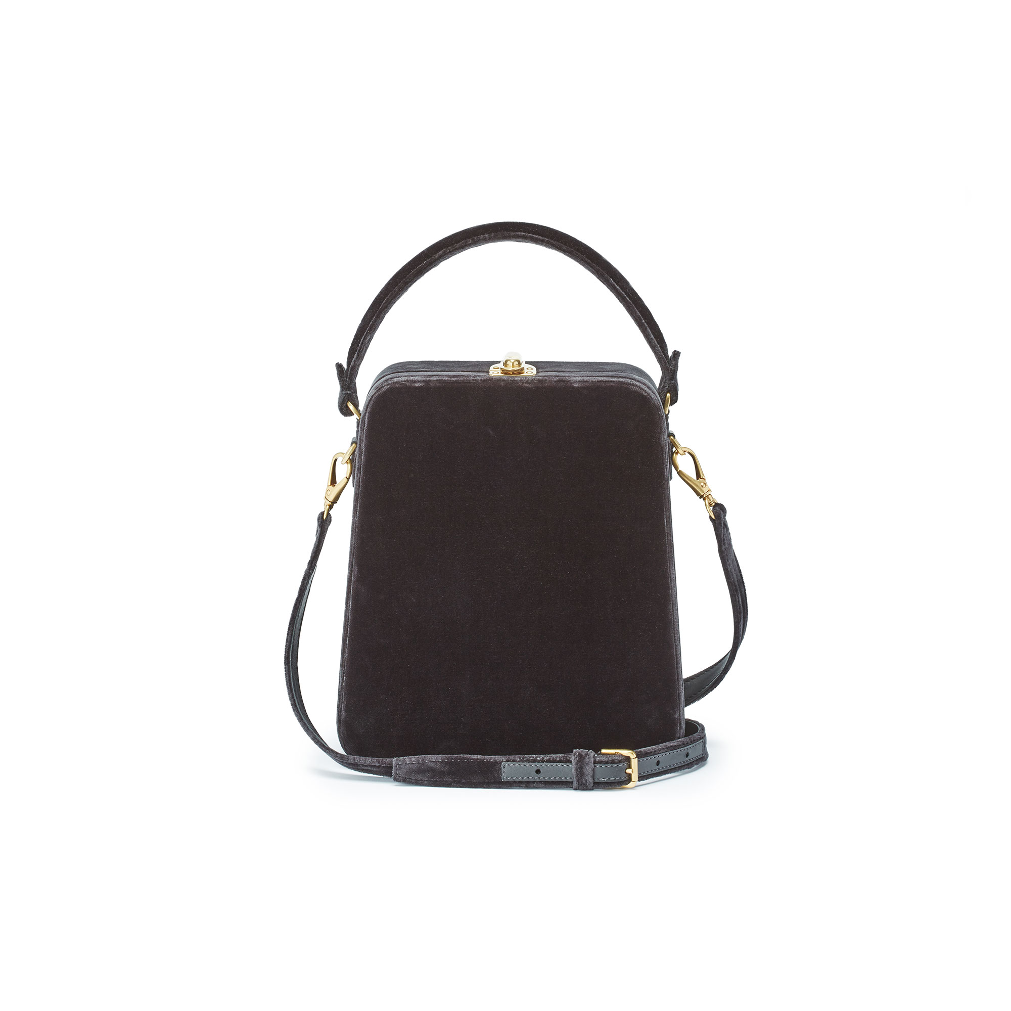Tall-Bertoncina-charcoal-gray-velvet-bag-Bertoni-1949