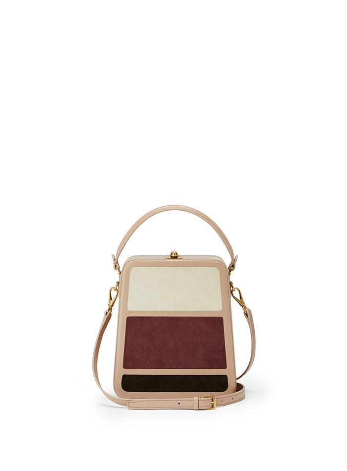 Tall-Bertoncina-rose-ivory-wine-suede-bag-Bertoni-1949-thumb
