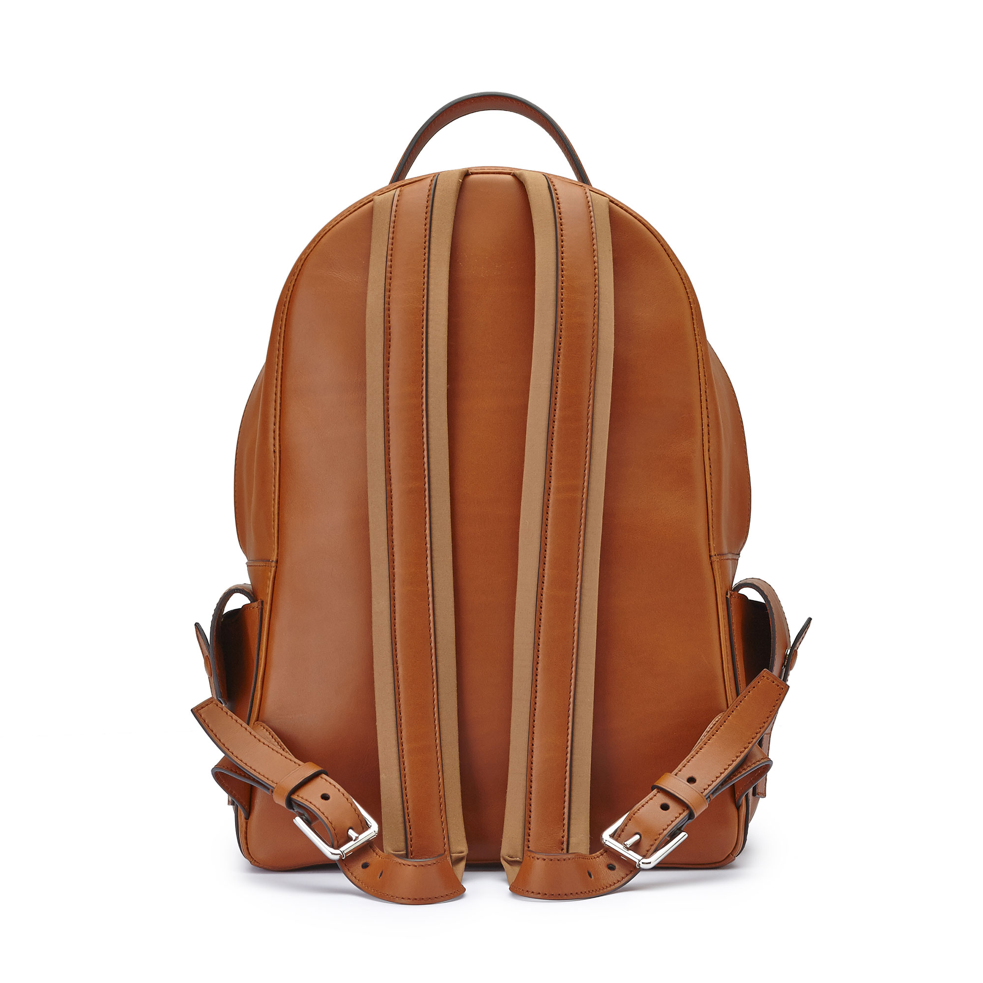 The terrabruciata french calf Zip Backpack by Bertoni 1949 04