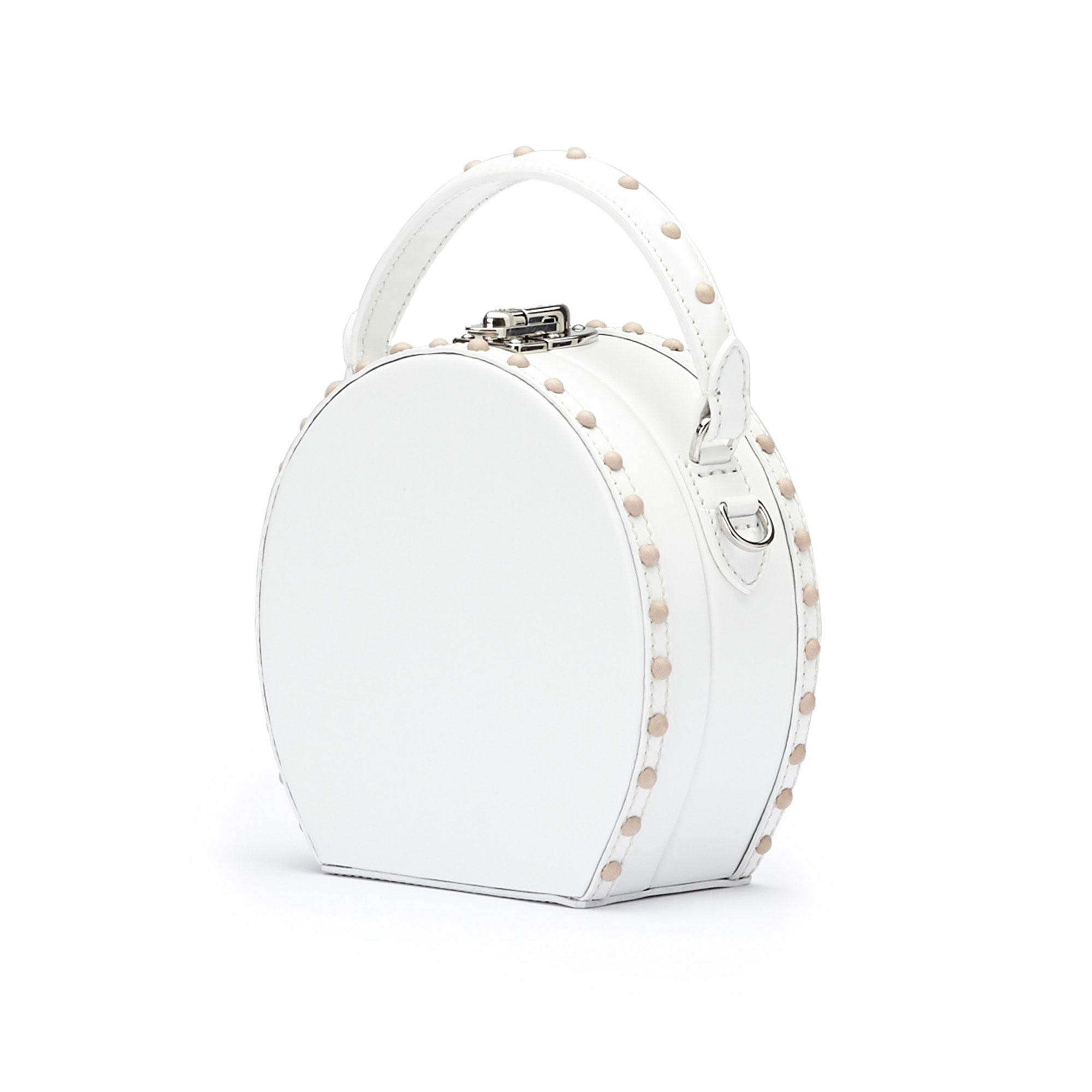 The white brushed calf Mini Bertoncina bag by Bertoni 1949 02
