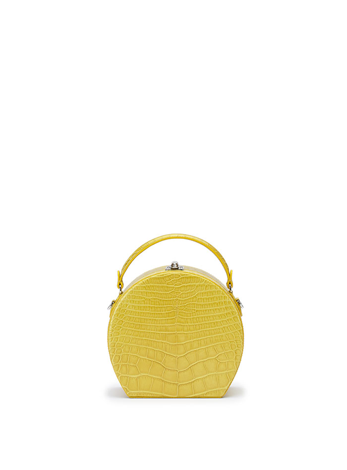 The yellow alligator Regular Bertoncina bag by Bertoni 1949