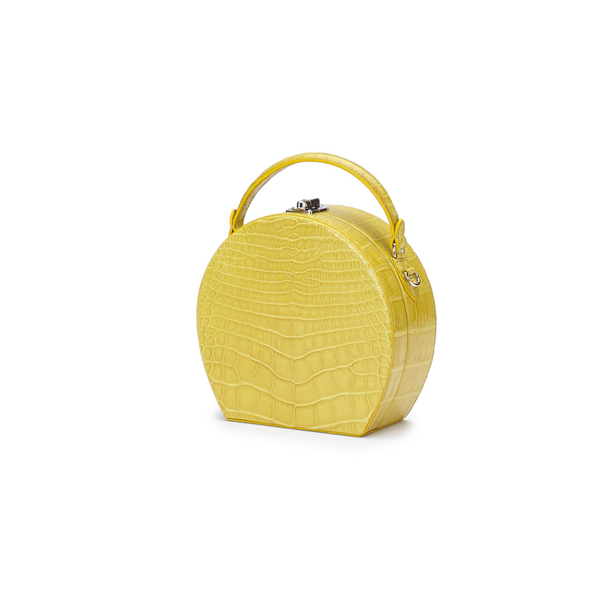 The yellow alligator Regular Bertoncina bag by Bertoni 1949 02