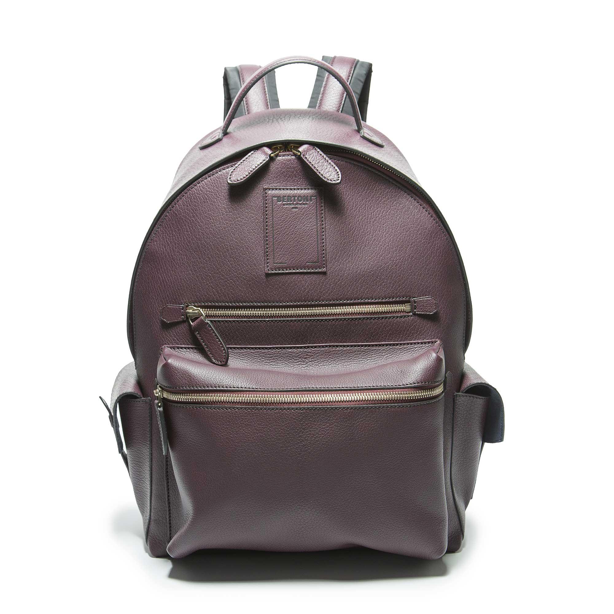 Zip-Backpack-bordeaux-goat-skin-Bertoni-1949